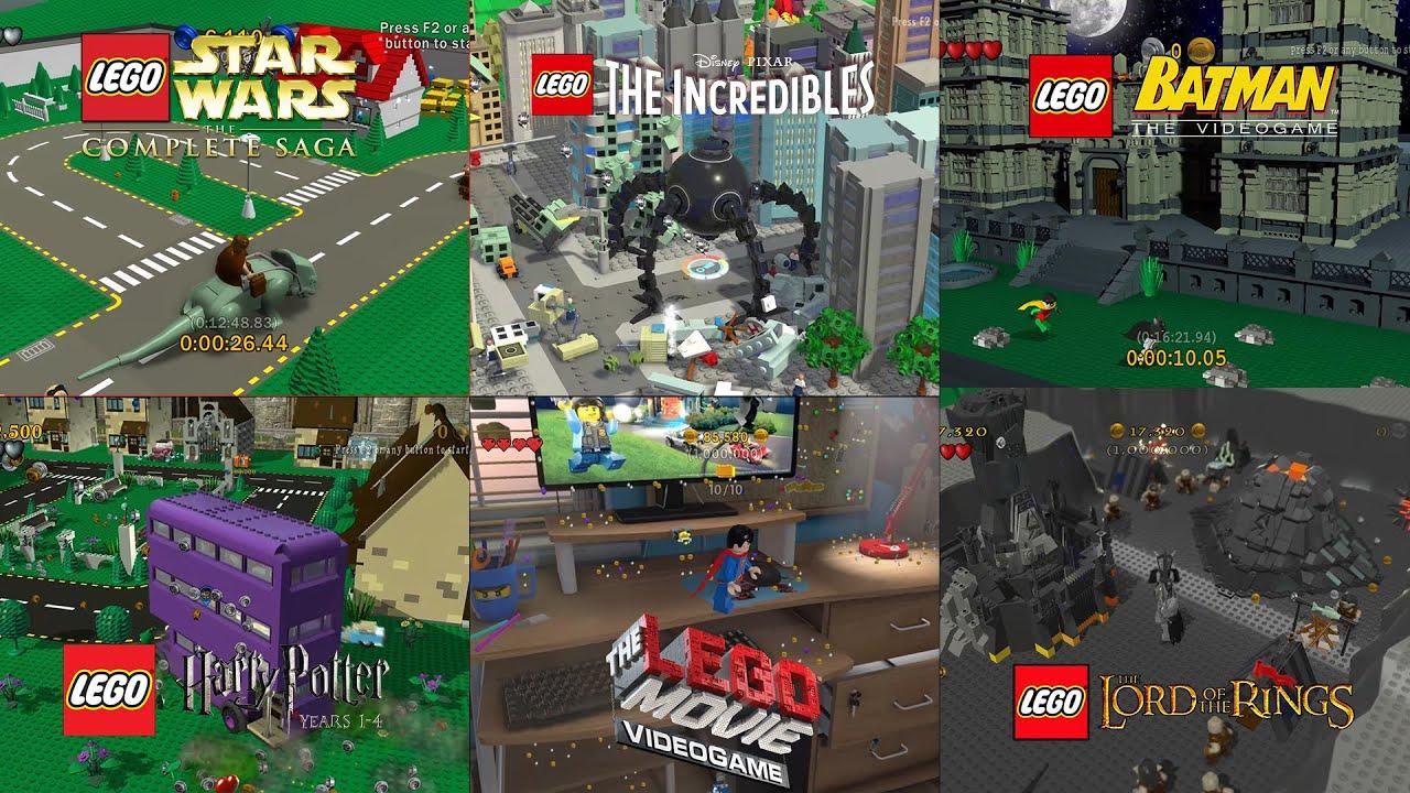 All Bonus Levels in Lego Videogames!