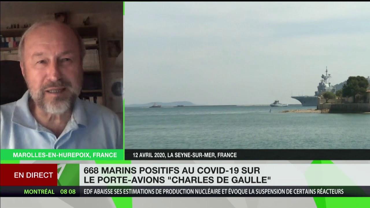 Covid-19 : François Chauvancy commente la situation sur le porte-avions Charles de Gaulle