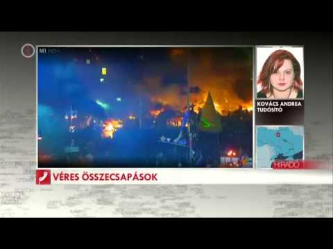 Kijev 2014. 02. 18. Polgárháborús helyzet