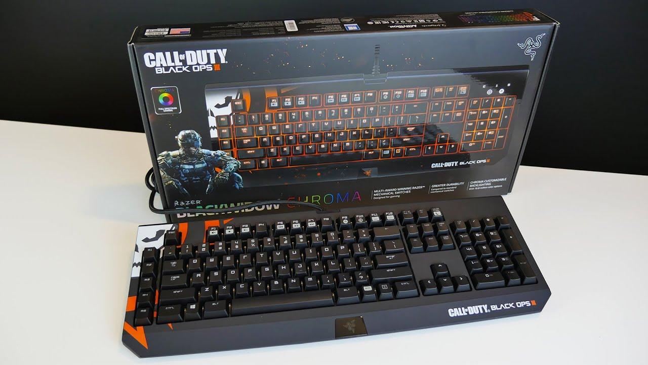 Razer BlackWidow Chroma Call of Duty: Black Ops III Unboxing!