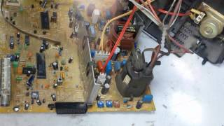ремонт телевізора rubin 55M04-1 йде настройка каналів, немає звуку на tda7056b