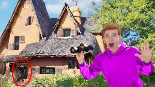 MYSTERY NEIGHBOR FOUND HIDING in TOP SECRET HAUNTED SAFE HOUSE!!