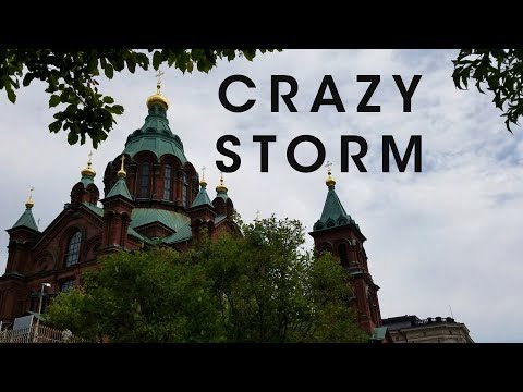 Crazy Thunderstorm In Helsinki