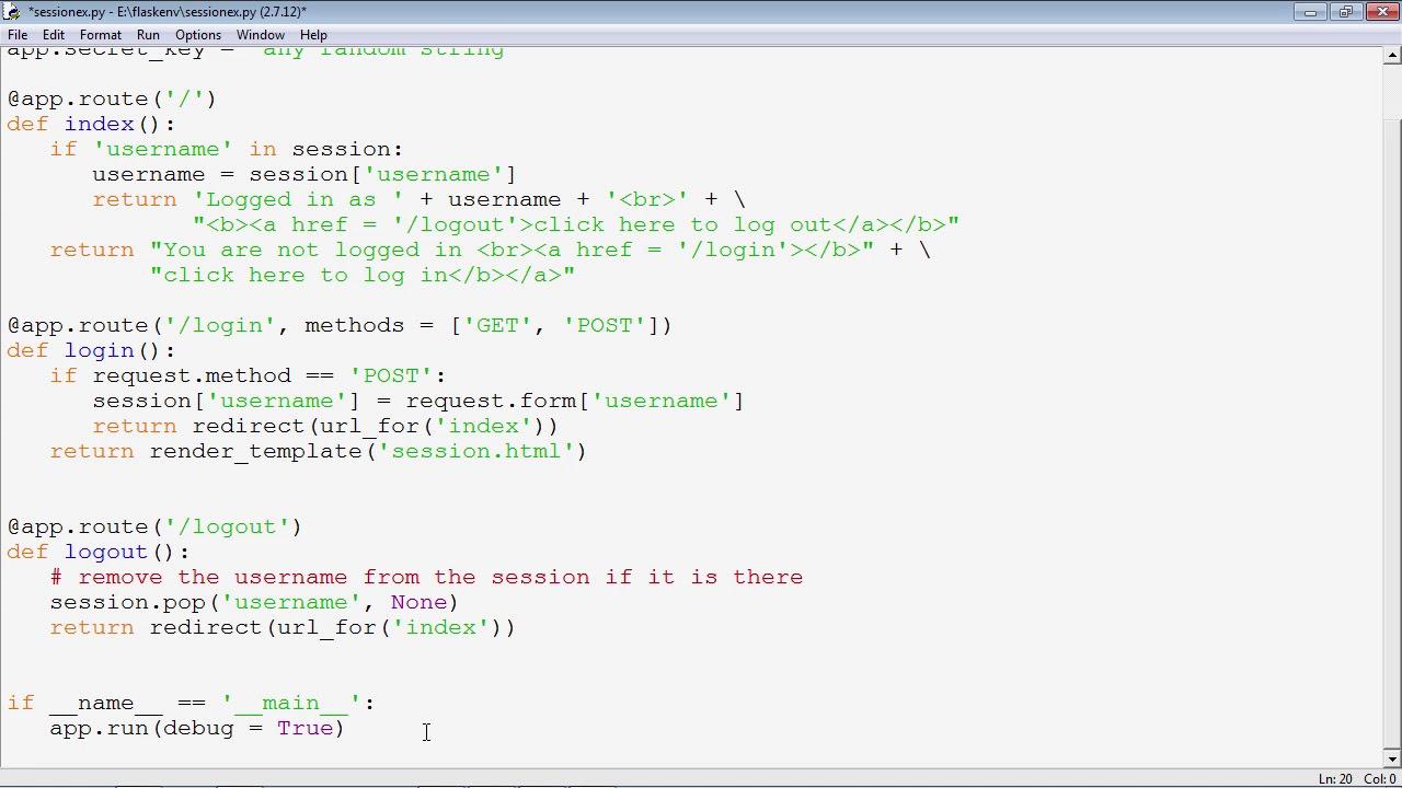 Flask Framework - Session Object