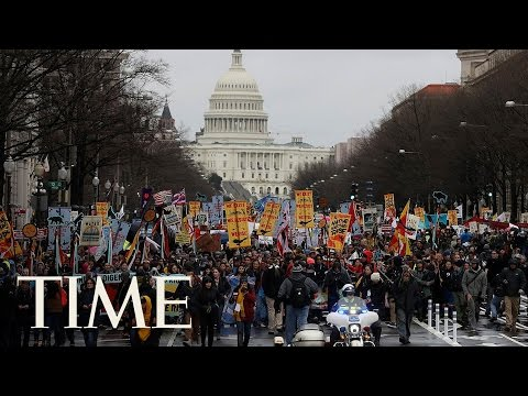 North Dakota Access Pipeline Protest Outside Trump Tower In D.C. | TIME