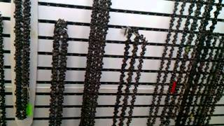 Chain Saw chain comes in many types and sizes askthemowerguy.com carlsbad small engine