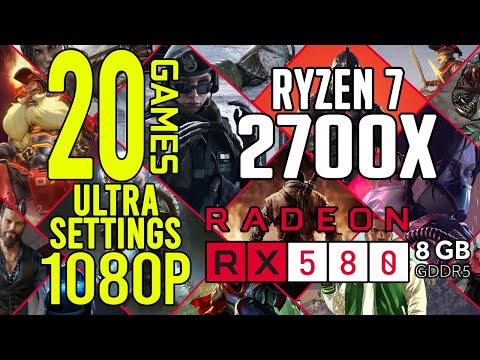 20 GAMES on RX 580 8gb Ultra Settings 1080p Benchmark Test!
