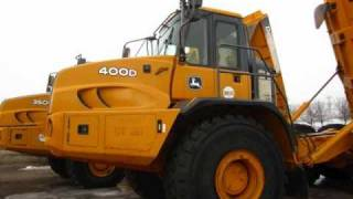 John Deere 400D 's & 350D articulated dump trucks for snow removal