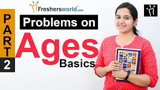 Aptitude Made Easy - Problems on Ages Part-2, Basics and Methods, Examples, Math tricks