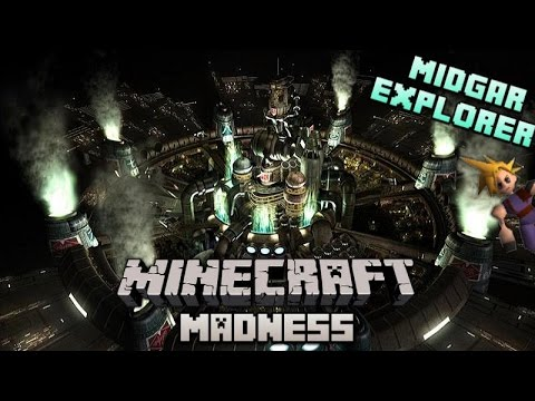 Minecraft Madness - Midgar Explorer (FINAL FANTASY VII REBUILT IN MINECRAFT!)