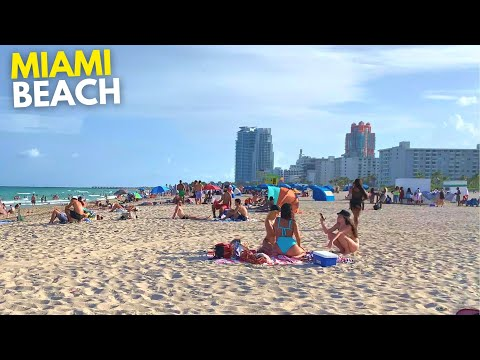 4K Labor Day Miami Beach Walk South Beach Miami, FL