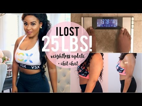 Weight-loss Update: I LOST 25lbs, Current Goals + Before & After!