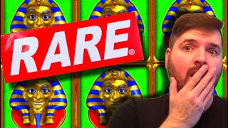 RARE SLOT MACHINE! I DISCOVER A Pharaoh's Fortune Slot THAT I HAVE NEVER HEARD OF BEFORE!