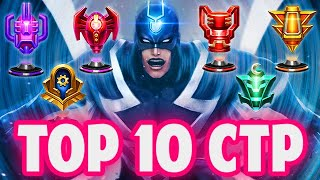 TOP 10 CHARACTER PICKS FOR EVERY CTP!! - Marvel Future Fight