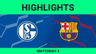 FC Schalke 04 vs FC Barcelona | Highlights Matchday 4 eFootball.Pro 2019-2020