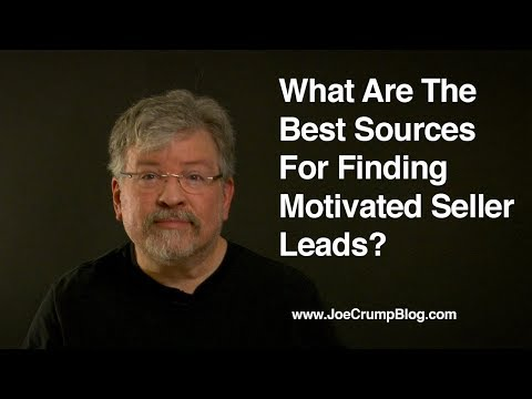 What Are The Best Sources For Finding Motivated Seller Leads?