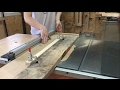 Jointing Edges with a Table Saw Sled