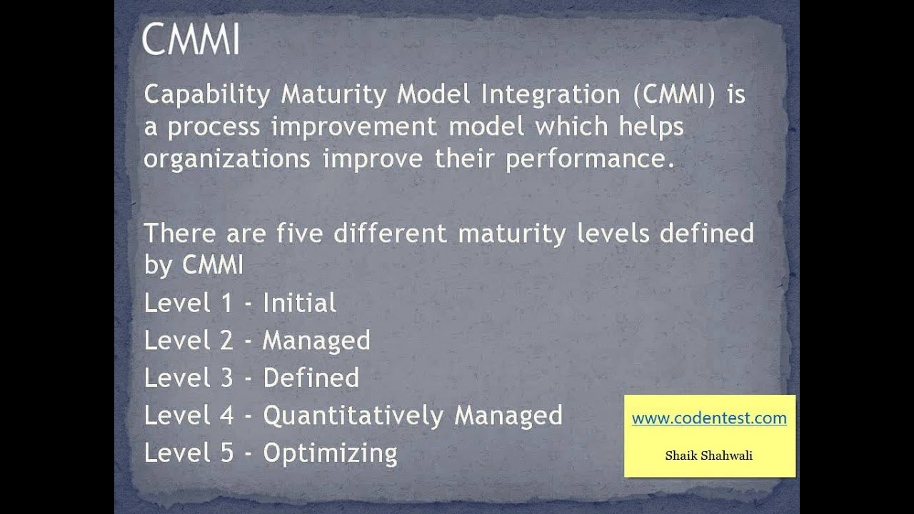 Quality Standards, ISO, CMMI and Six Sigma