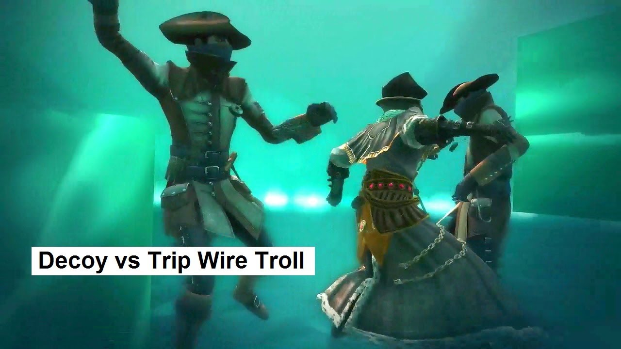 Decoy vs Trip Wire Troll. Short Clip. AC4 Manhunt Physicians vs ...