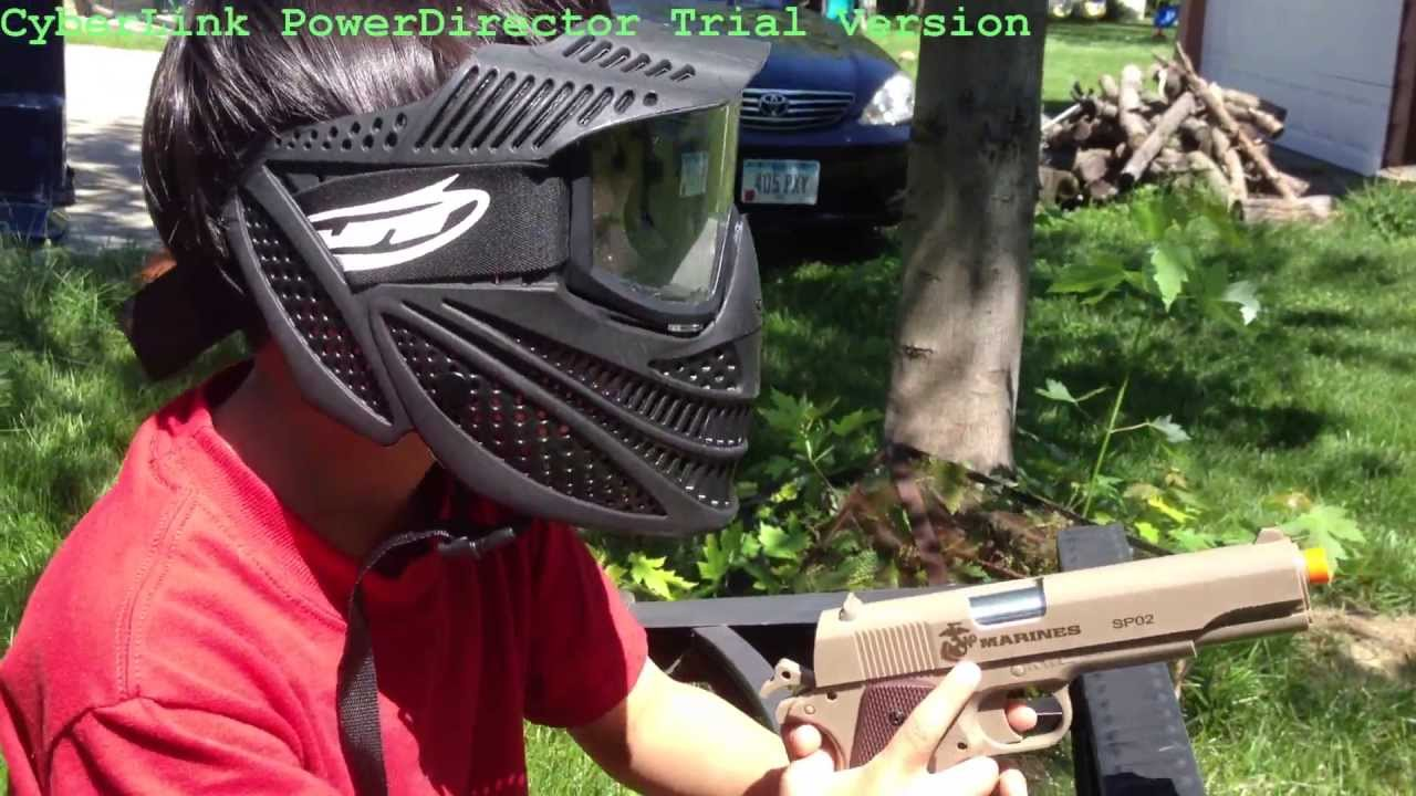 Backyard Airsoft War Marines spo2 - YouTube
