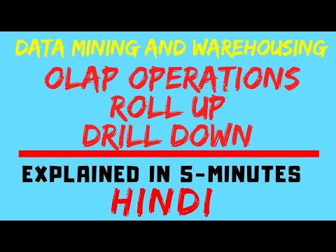 OLAP Operations Ll Roll Up/Drill Up And Drill Down Explained In Hindi