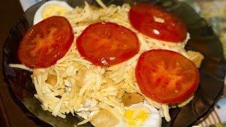 Вкусный салат А ля Цезарь  Пошаговый рецепт с фото