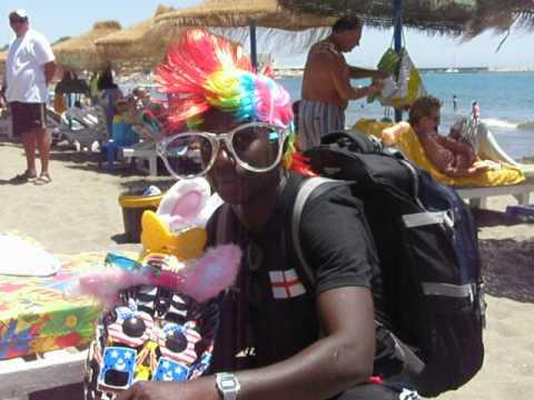 Lookie Lookie man on the beach, Fuengirola, Costa del Sol
