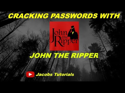 How to crack passwords using john the ripper in kali linux
