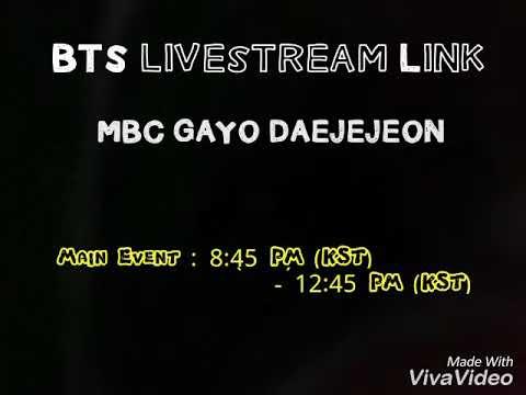 MBC Gayo Daejejeon Livestream Link [BTS]