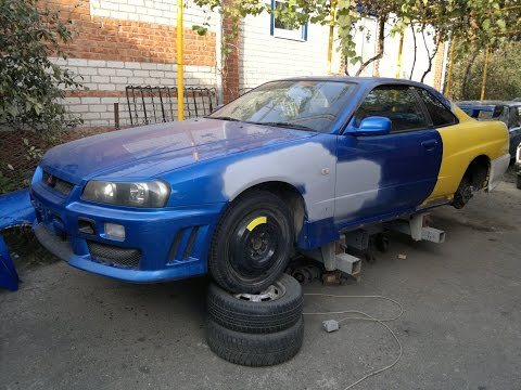 Кузовной ремонт NISSAN SKYLINE R34 / SKYLINE R34 GTT body repair