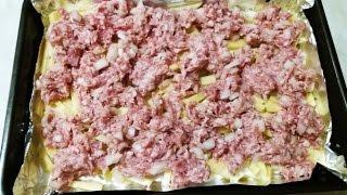 Картофель с фаршем и сметаной фирменный ужин два в одном