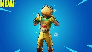 "FORTNITE TACO SKIN ""Guaco"" with ALL EPIC Fortnite Emotes"