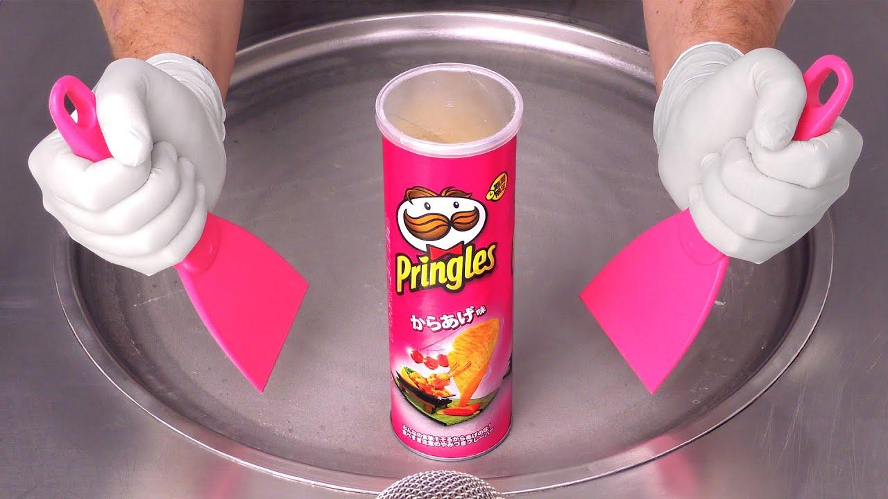 Pringles - fried Chicken Flavor   Ice Cream Rolls ASMR