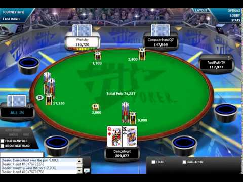 MTT 100$ Poker Vod  Покер вод на русском языке №28
