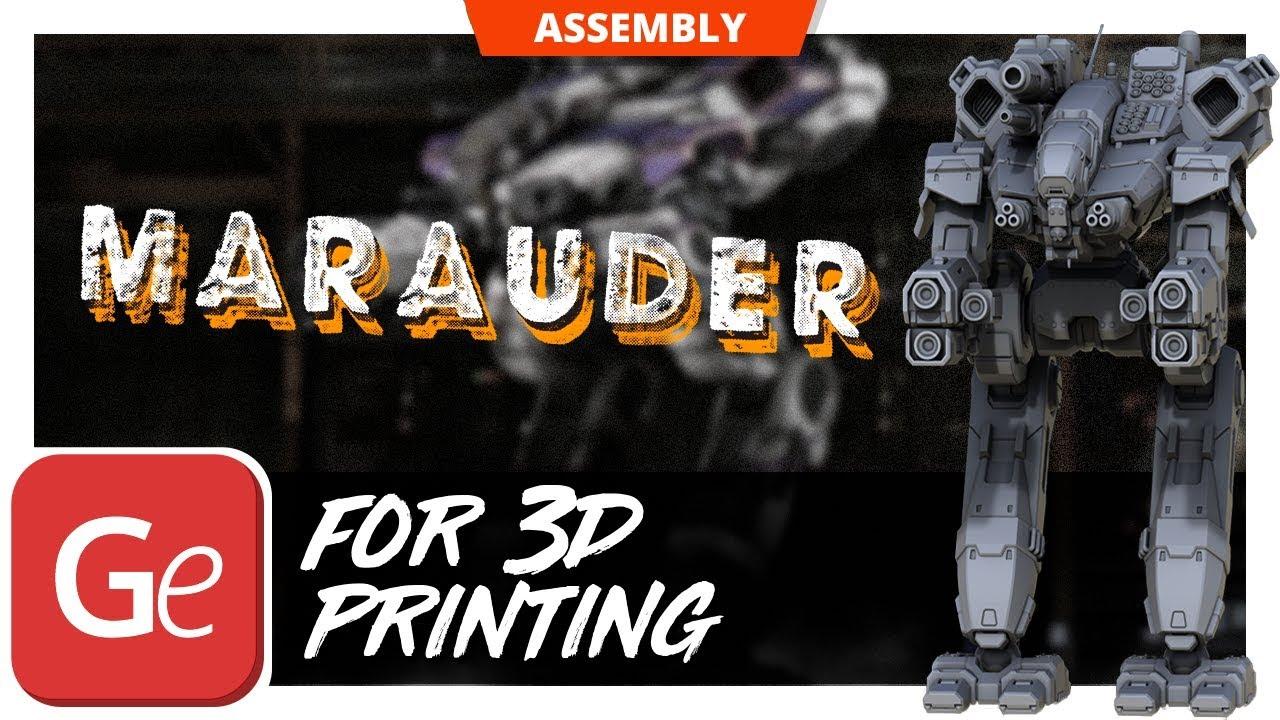 battletech marauder 3d model