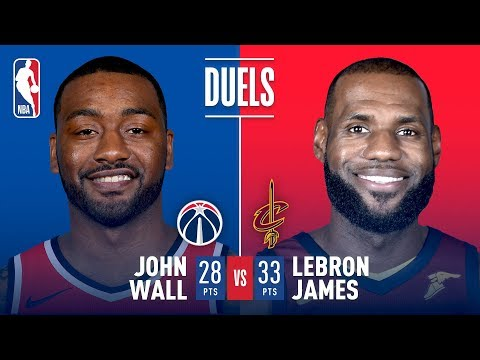 LeBron James and John Wall Duel in Cleveland