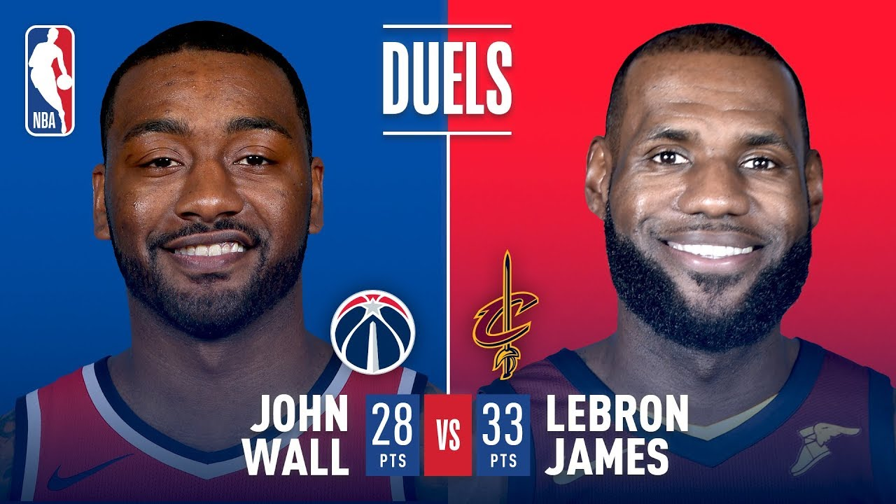 e185e430d58d LeBron James and John Wall Duel in Cleveland