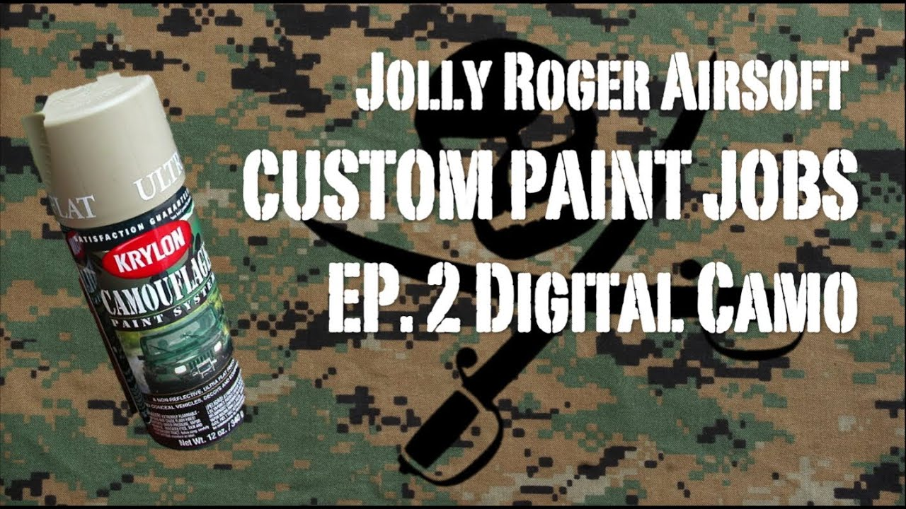 how to paint digital camo how to spray paint a gun. Black Bedroom Furniture Sets. Home Design Ideas