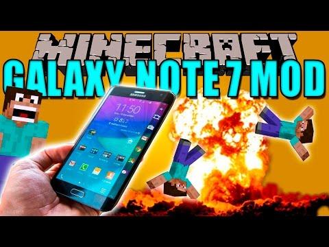 SAMSUNG GALAXY NOTE 7 MOD - Este mod es una BOMBA! - Minecraft mod 1.11.2 Review