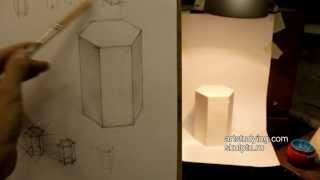 Обучение рисунку. Введение. 3 серия: шестигранная призма