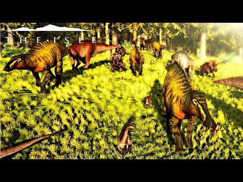 The Isle - BIGGEST MIGRATION 60+ HERB GROUP, EPIC EVENT & GIANT CARNIVORE CONFRONTATION ( Gameplay )