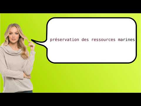 How to say 'marine resources conservation' in French?