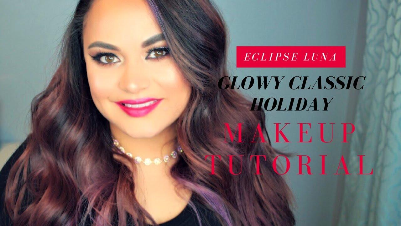 Glowy classic holiday l makeup tutorial l eclipse luna youtube glowy classic holiday l makeup tutorial l eclipse luna baditri Image collections