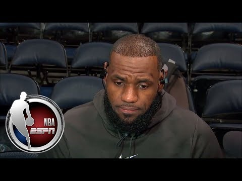 Lebron James congratulates Lonzo Ball, talks not insulting Ntilikina and Brown's QB | NBA on ESPN