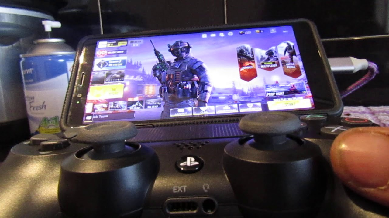 how to connect a ps4 controller to a android/iphone to play CALL OF DUTY MOBILE - YouTube