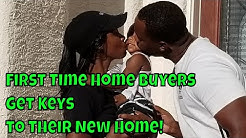 First Time Home Buyers Get Keys to Their New Home!
