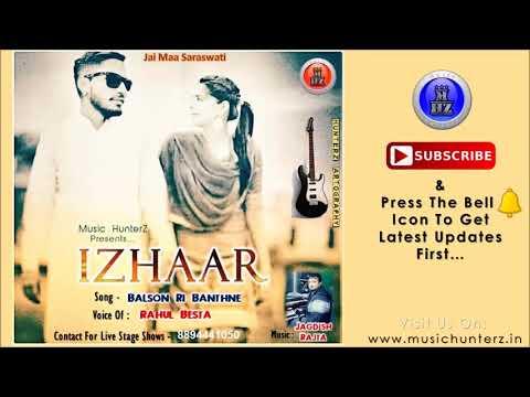 Balson Ri Banthne By Rahul Besta   Latest DJ Pahari Nati Song   Music HunterZ