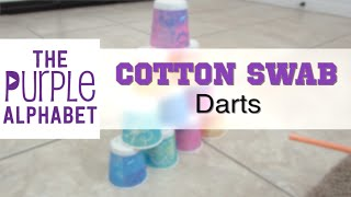 Cotton Swab Darts - Easy and Cheap DIY