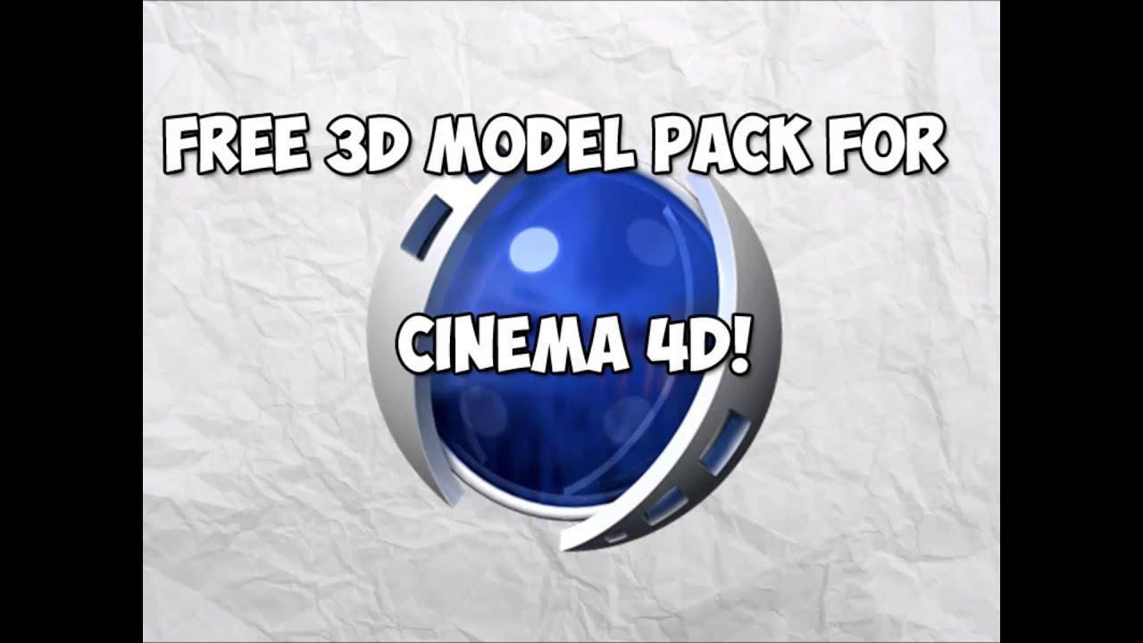 Free Cinema 4d model pack!