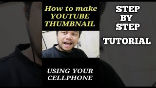 HOW TO MAKE A NICE YOUTUBE THUMBNAIL USING YOUR CELLPHONE ONLY/PIXELLAB/
